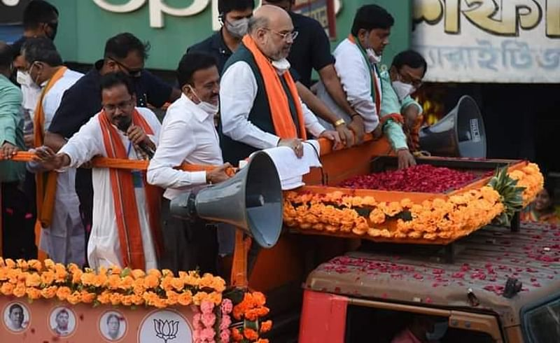 West Bengal Election Campaign Rally Amit Shah Girish Mahajan