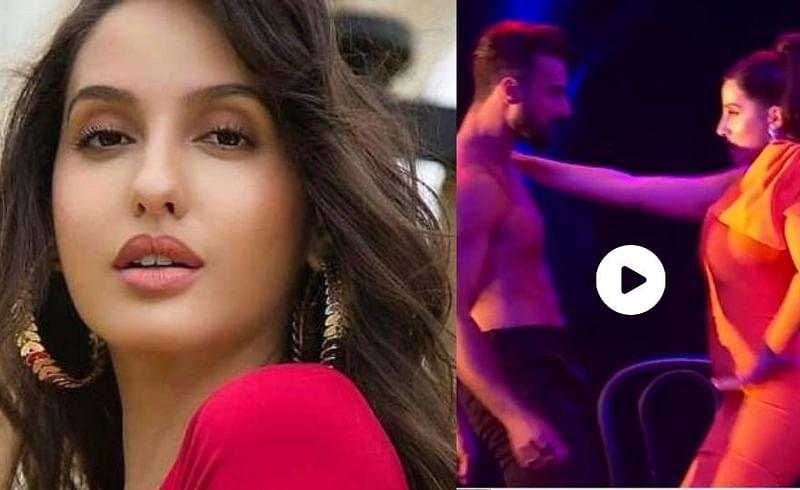 bollywood dancer nora fatehi and tusshar kalia dance on saki saki video viral