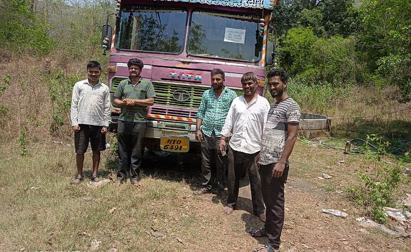 Tanker water supply started in the rain-hit village