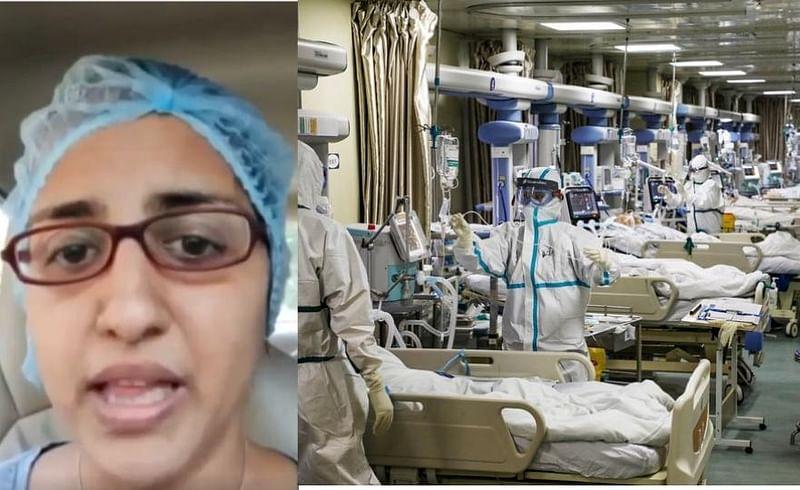 doctor breaks down in tears on corona situation