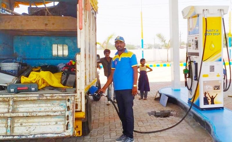 teacher work petrol pump