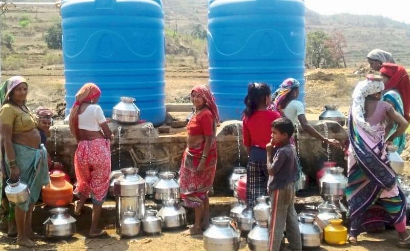 Severe water shortage in tribal areas of Baglan taluka Nashik Marathi News
