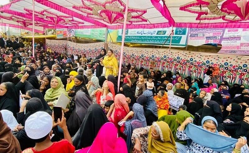 Janata Dal agitation against lockdown in Malegaon