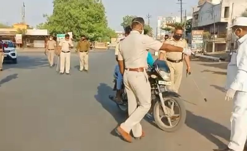Nashik police on action mode