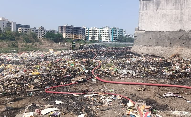Fire At Sinhgad Road Garbage