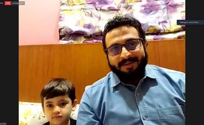 Netherlands Marathi Mandal Maharashtra Day childrens Chat Dr Amol Kolhe Facebook Live