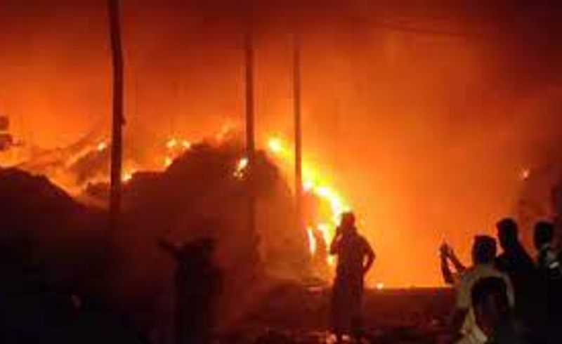 Five shops have been gutted in the fire at Mohol