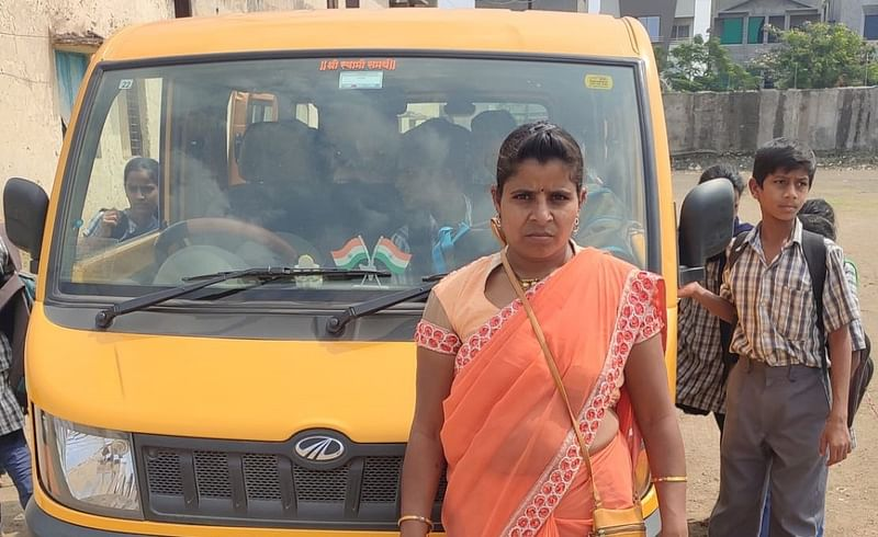 Story of school bus driver Seema Waghmode