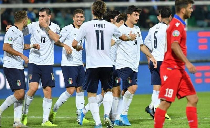 इटलीने युरो पात्रता फुटबॉल स्पर्धेतील धडाकेबाज विजय मिळवला