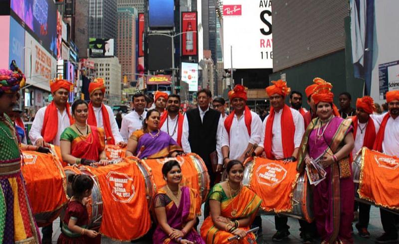 महाराष्ट्राच्या जयघोषाने दुमदुमला टाइम्स स्क्वेअर