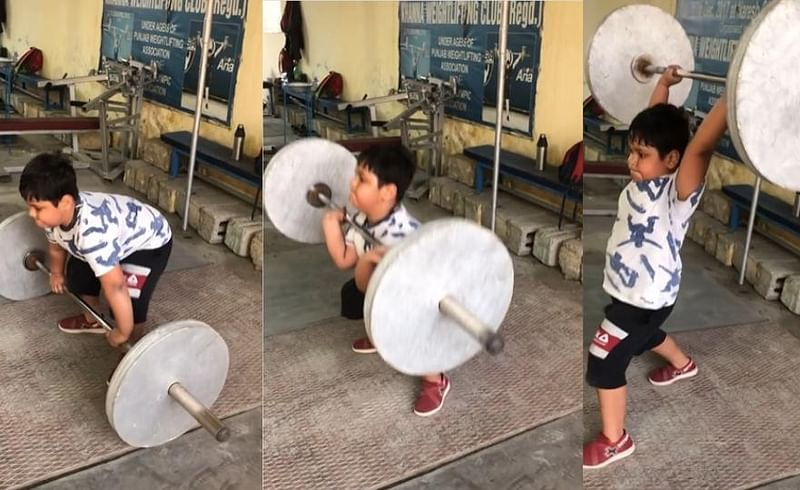 A video of a little boy exercising on social media is going viral.jpg