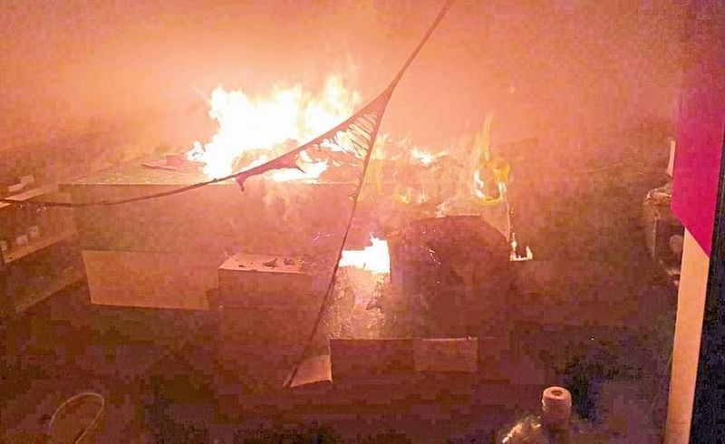 drug warehouse fire; Drugs worth crores Miraj