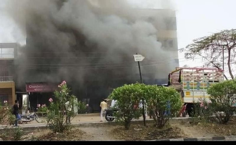 private covid Center at Chandwad was not damaged in the fire Nashik Marathi news