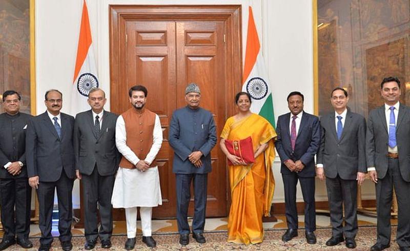 Sitharaman back with traditional bahi khata for Budget 2020