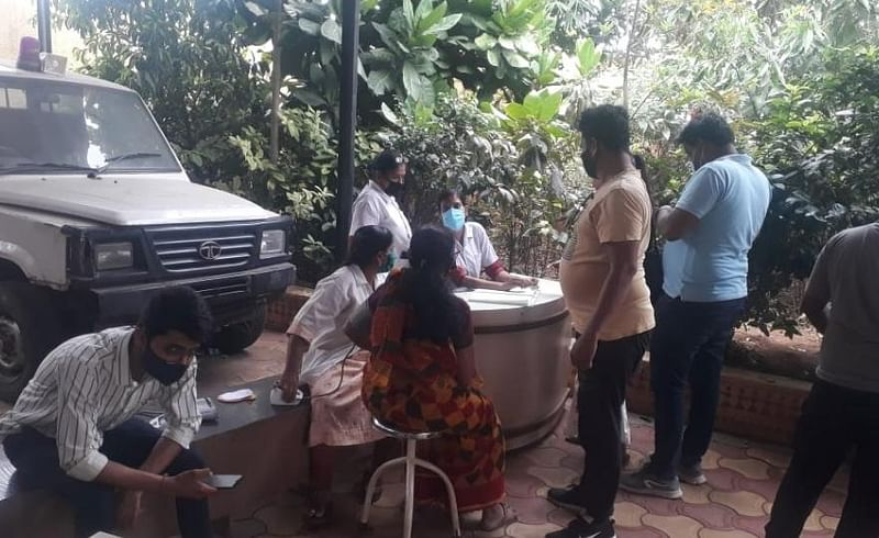 Supply of corona vaccine at East Haveli Primary Health Center after 2 days of waiting