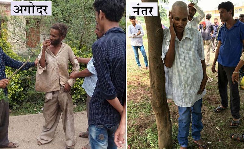 निराधार भिकाऱ्यांना केले चकाचक, विधायक उपक्रम