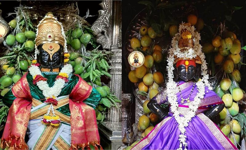 Mango decoration to Vitthal in Pandharpur
