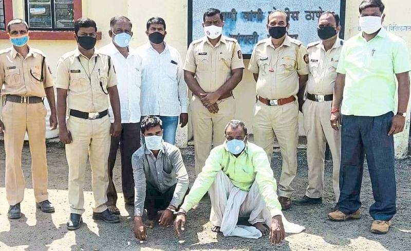 The accused was arrested in disguise in a filmy style
