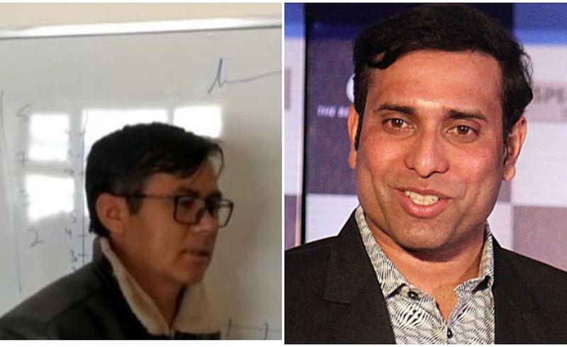 Kifayat Hussain, Maths teacher,VVS Laxman