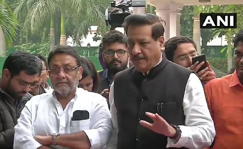 congress leader prithviraj chavan statement after meeting with ncp in delhicongress leader prithviraj chavan statement after meeting with ncp in delhi