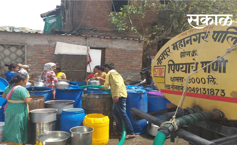 people facing water scarcity issue even in march in nagpur