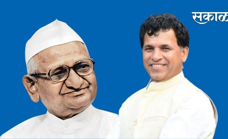 Union Minister of State for Agriculture Kailash Chaudhary will meet Anna Hazare at Ralegan Siddhi this afternoon.jpg