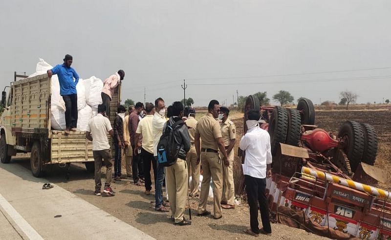 latur accident gutkha truck