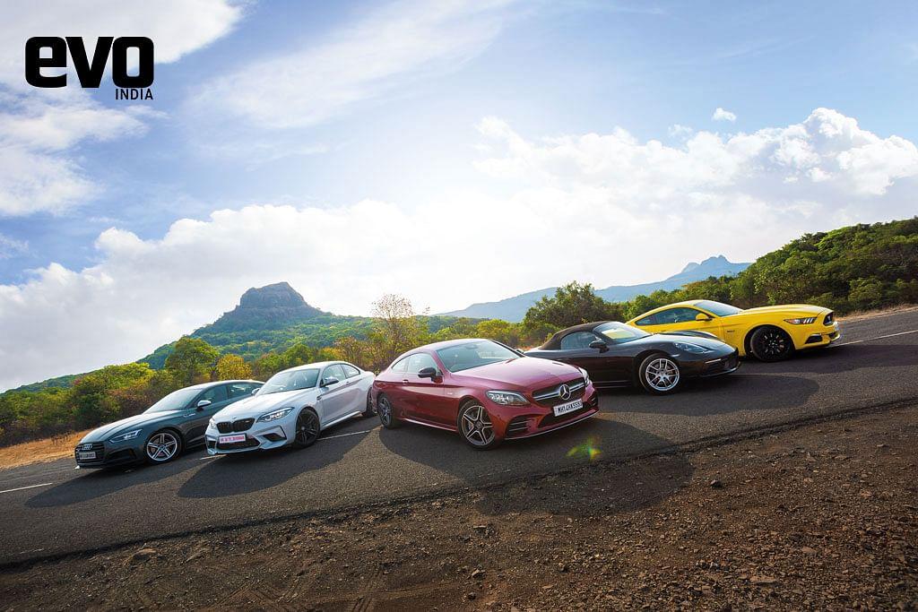 Mercedes – AMG C 43 Coupe vs BMW M2 Competition vs Audi S5 vs Ford Mustang vs Porsche Boxster – A sportscar showdown