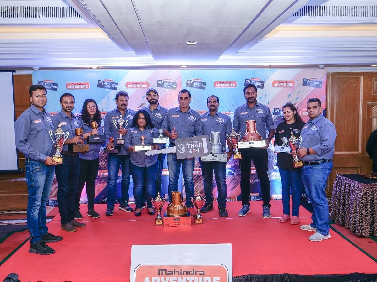 Winners from all the classes at the Mahindra Adventure Off-roading Trophy 2019