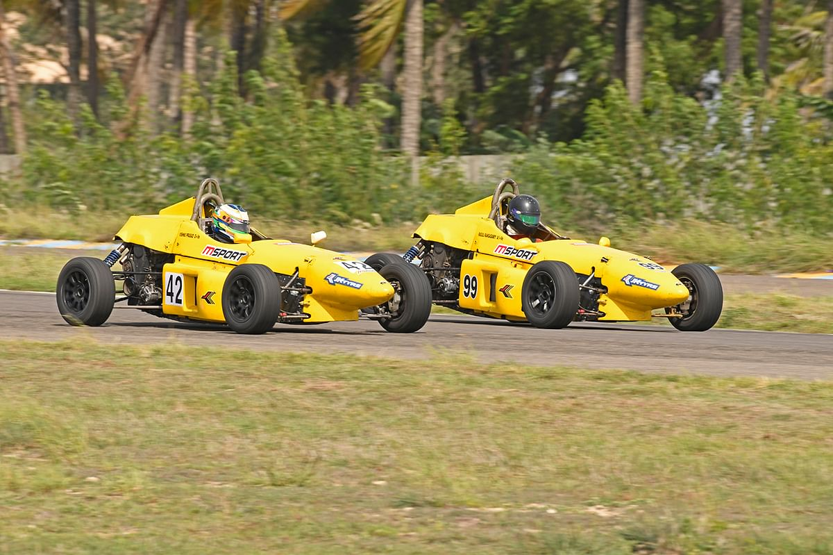 Vishnu Prasad in the lead after round one of the JK Tyre National Championship 2019