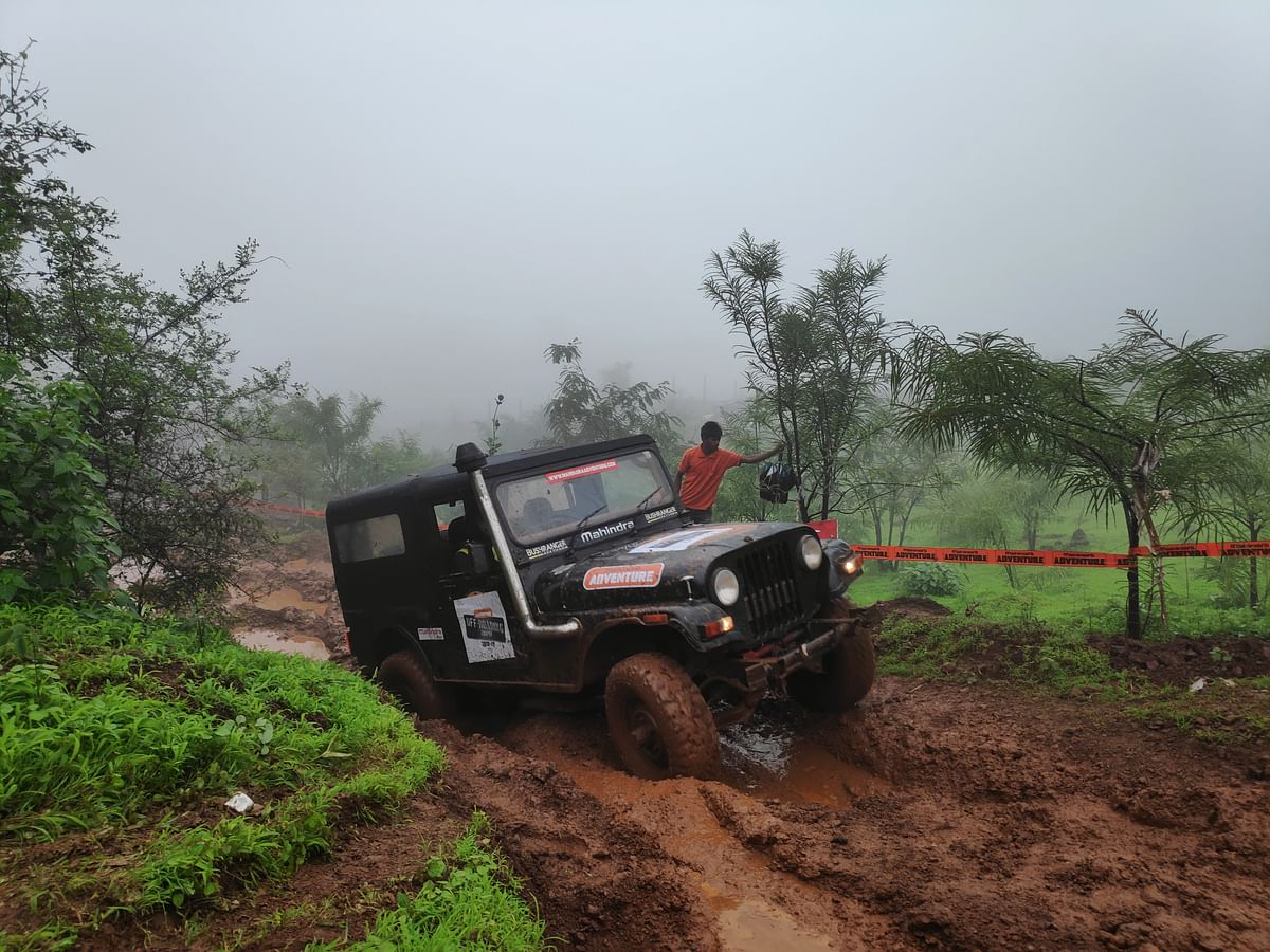 Challenging obstacles tested the Mahindra Thar's off-roading skills