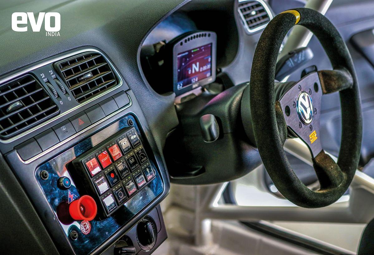 Inside the Polo Cup car