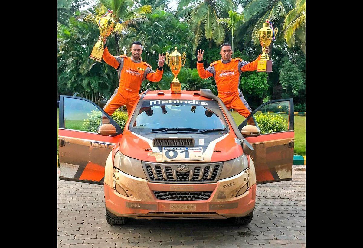 Gaurav Gill and Musa Sherif clinch the 2019 Dakshin Dare Rally title