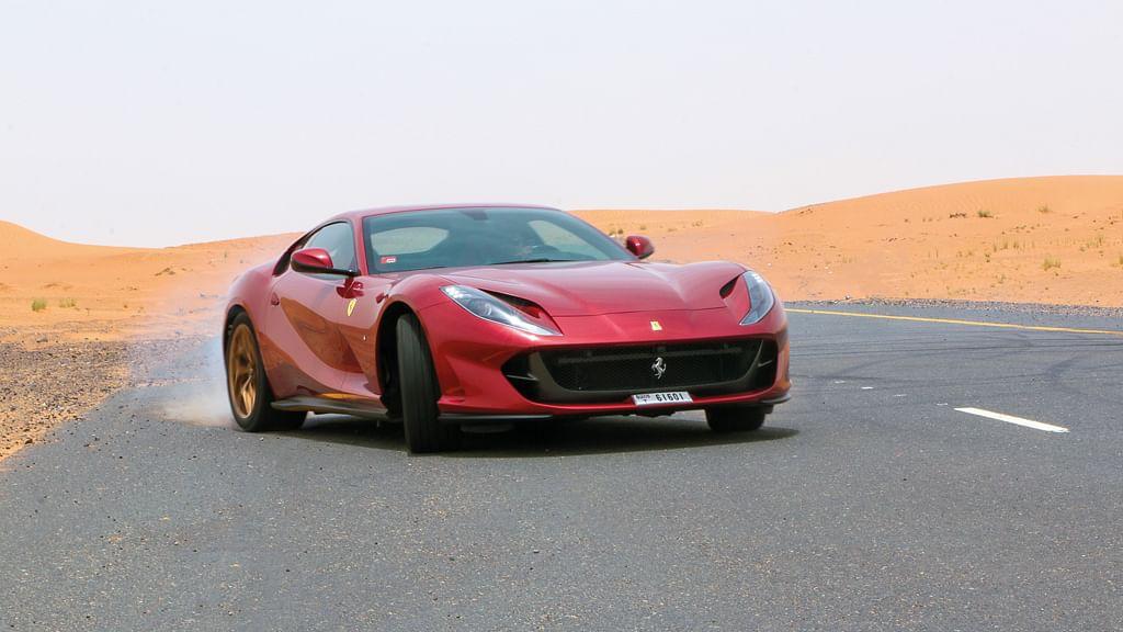 Taming the Ferrari 812 Superfast in Dubai