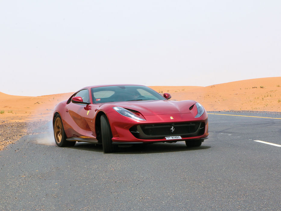 Taming the Ferrari 812 Superfast in Dubai