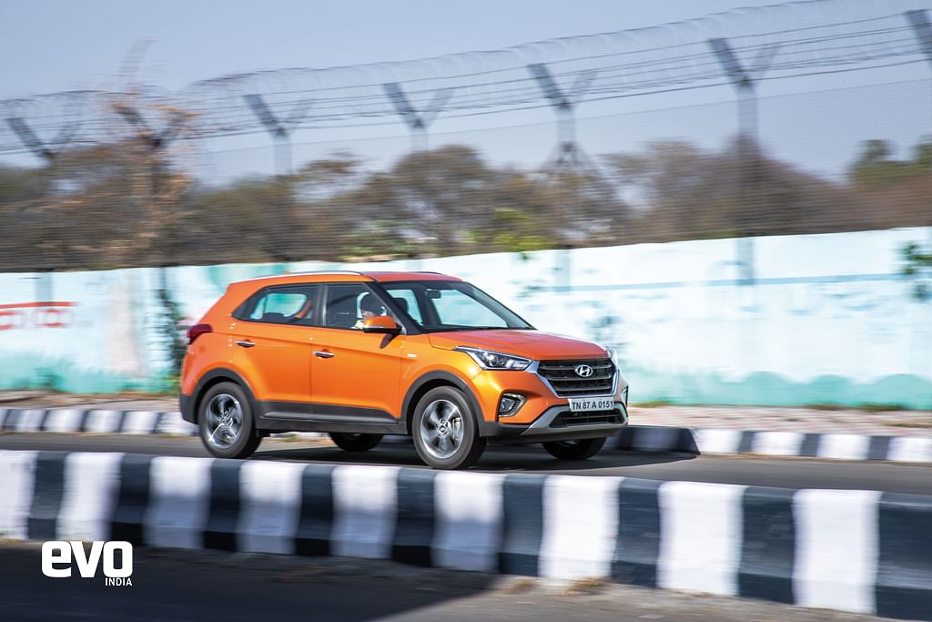The Hyundai Creta in this sizzling colour is definitely a head turner