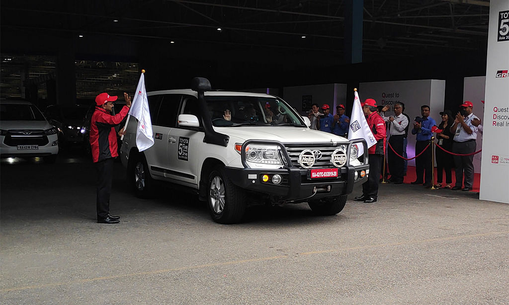 Toyota 5 Continents Drive Indian leg inaugurated by Gazoo Racing officials