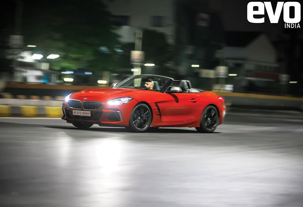 To experience a convertible like the BMW Z4, you've to wait till the sun goes down