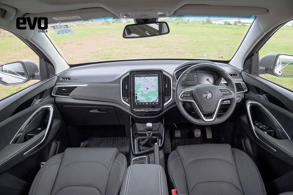 Front interiors of the MG HECTOR