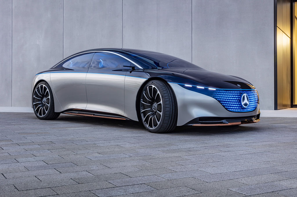 Mercedes-Benz showcases Vision EQS at Frankfurt Motor Show 2019