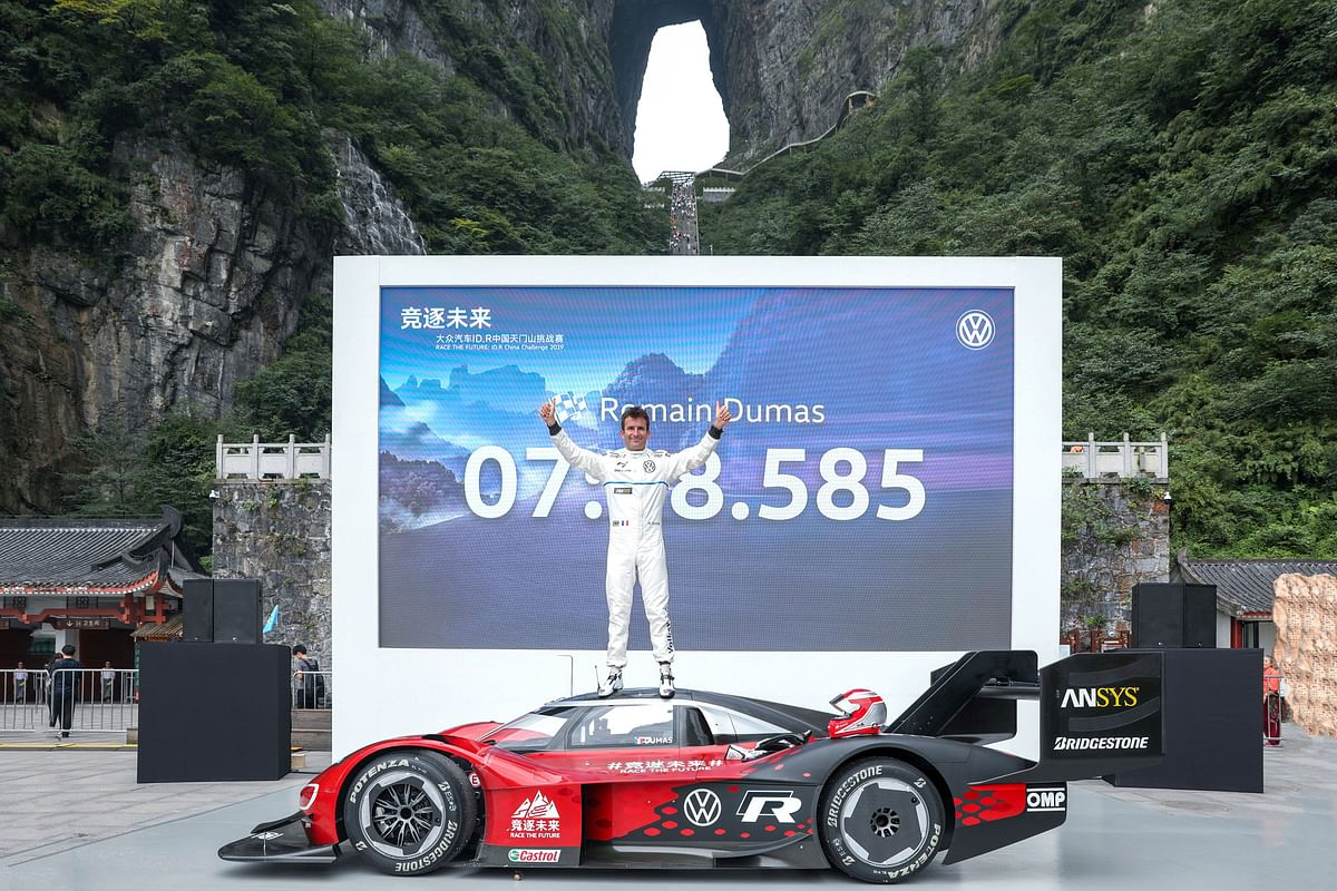 Volkswagen ID.R is the fastest to sprint up the Tianmen Mountain roads
