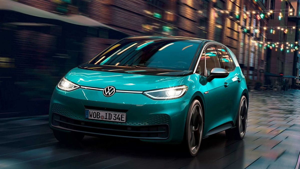 The Volkswagen ID.3 zipping through city streets
