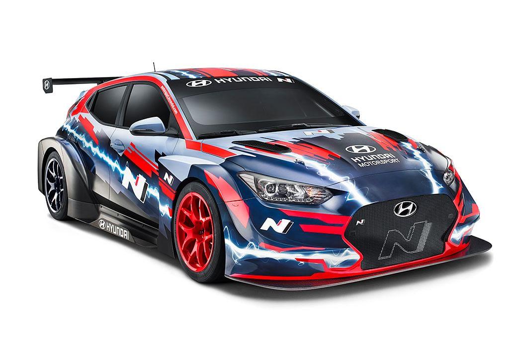 Hyundai showcases Veloster N ETCR electric racecar
