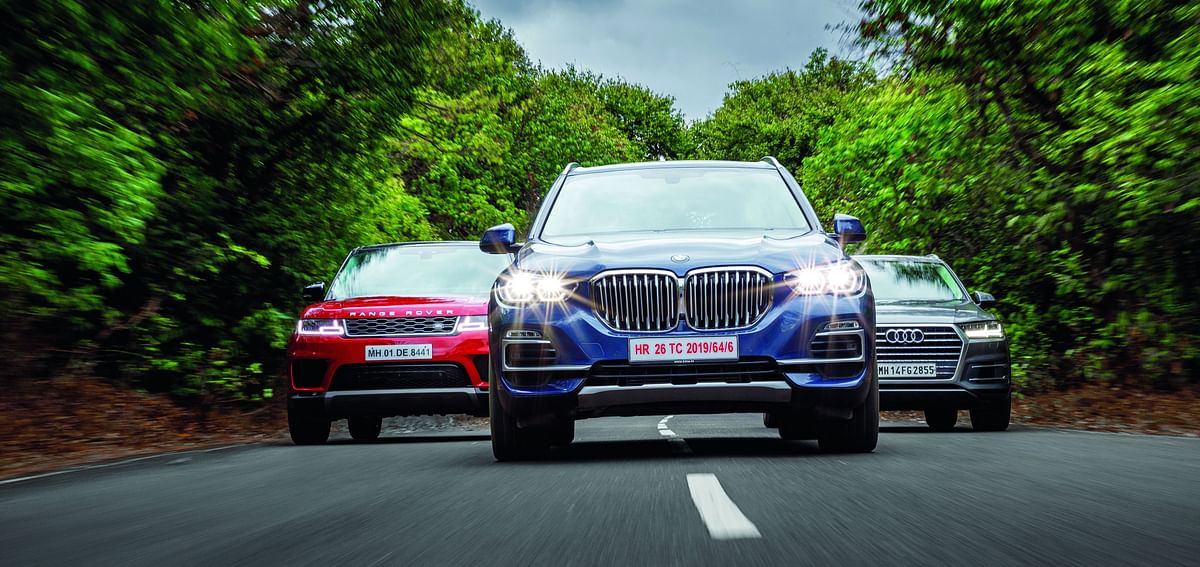 Luxury SUV comparo: BMW X5 vs Range Rover Sport vs Audi Q7