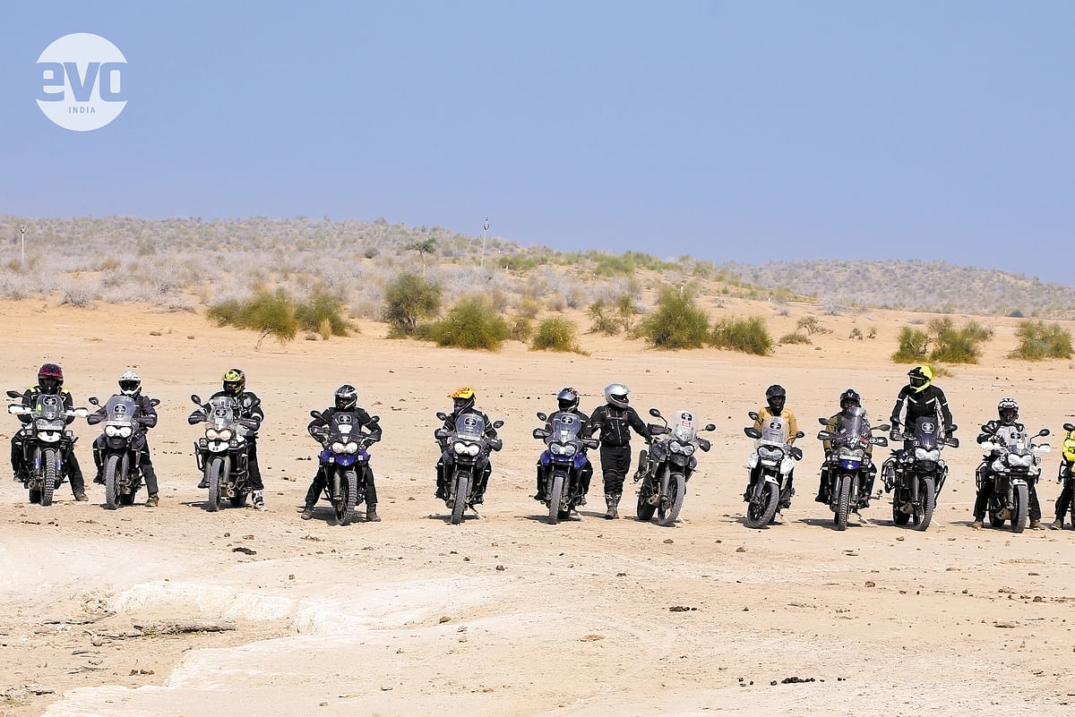 Through Rajasthan on the Triumph Tiger