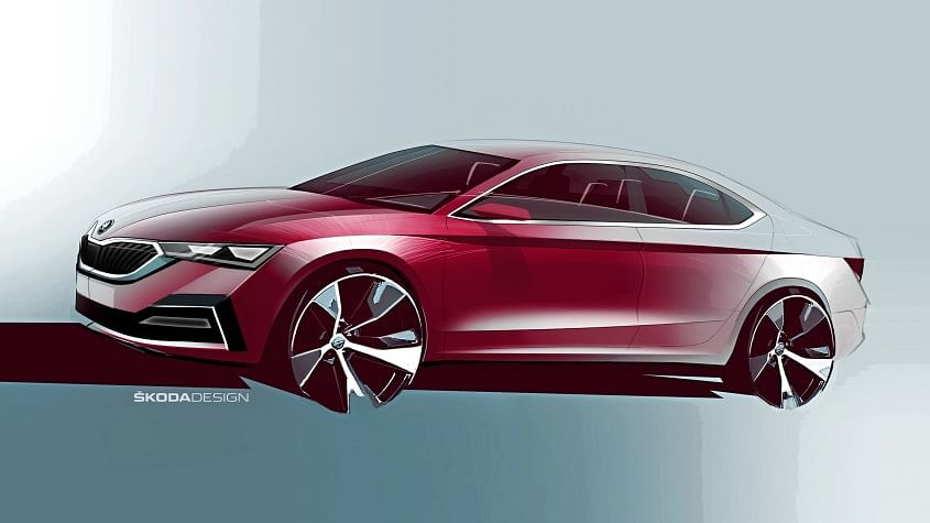 Next-generation Skoda Octavia design sketches revealed