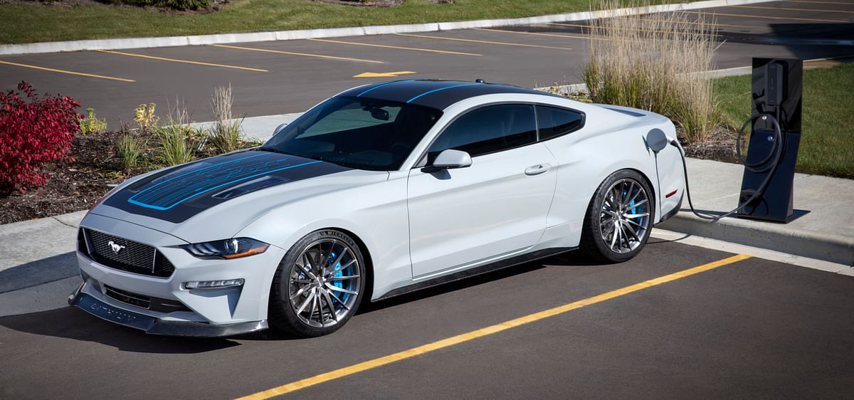 Ford showcases one-off Mustang Lithium, a fully-electric Mustang