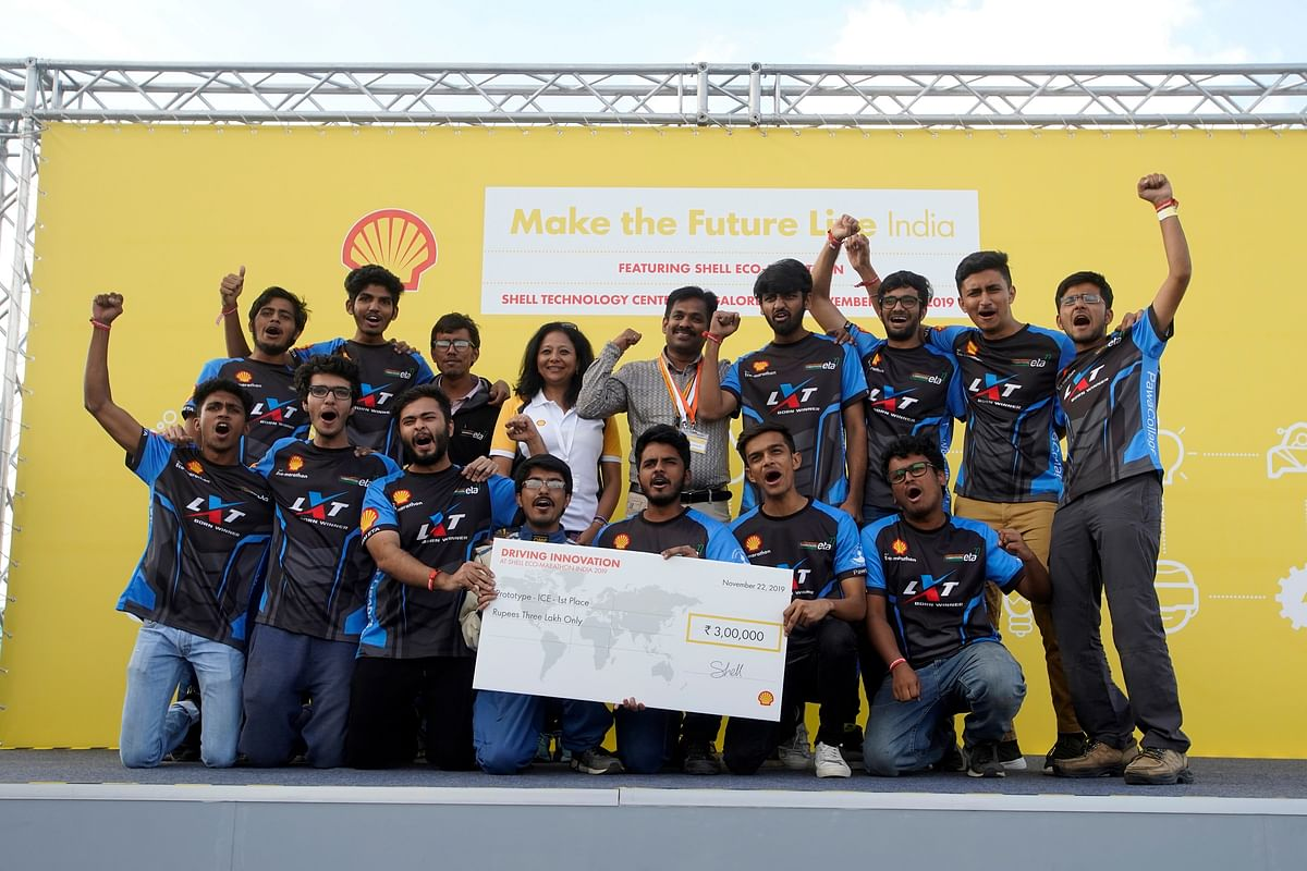 Team Averera From IIT-BHU clocks the Best Mileage At Shell's 'Make The Future Live India 2019'
