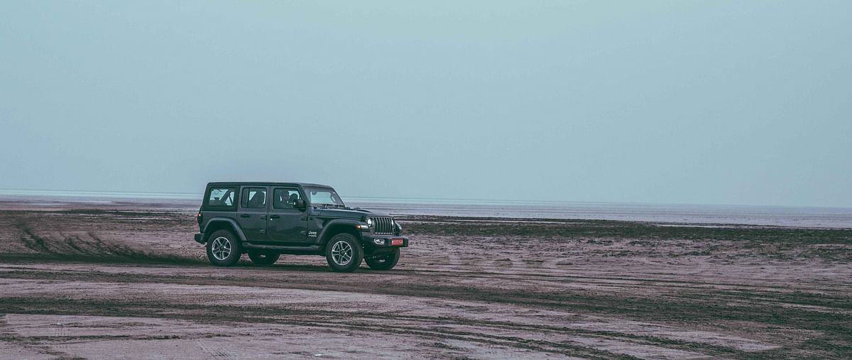 Salt flats where the Jeeps let loose