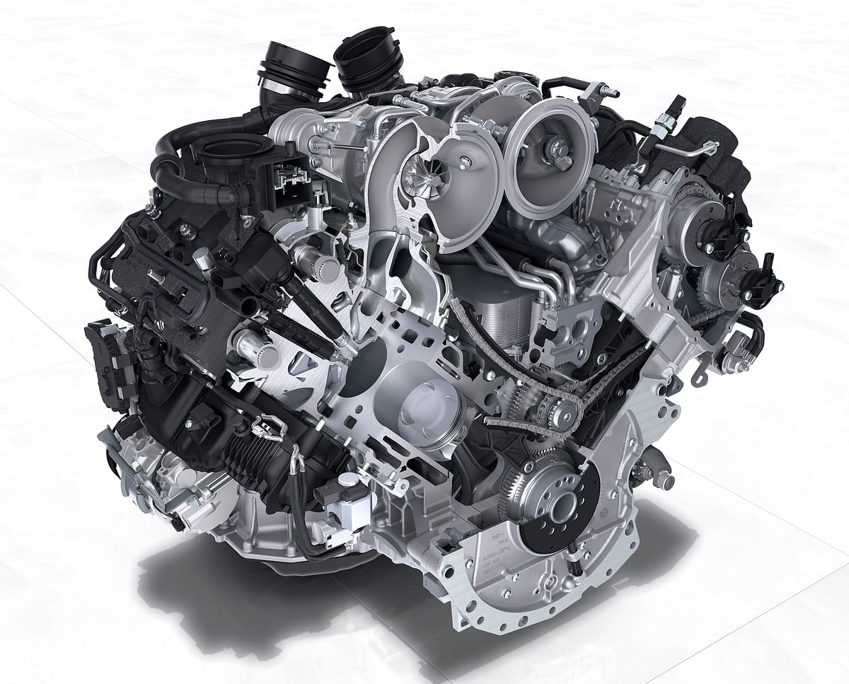 The standard car comes with a 3-litre V6 engine